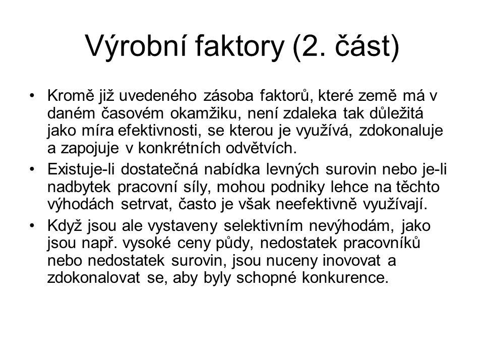 Výrobní faktory (2. část)