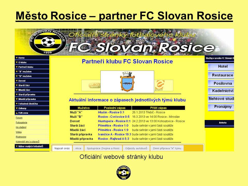 Město Rosice – partner FC Slovan Rosice