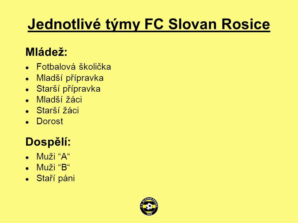 Jednotlivé týmy FC Slovan Rosice