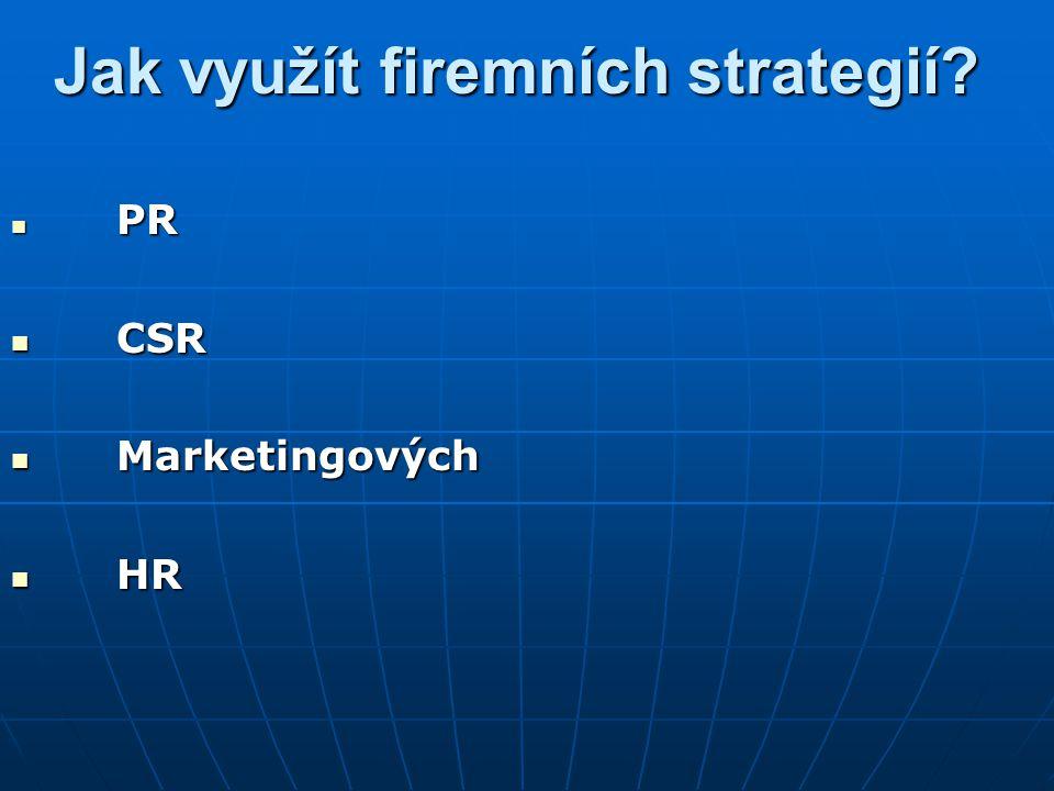 Jak využít firemních strategií