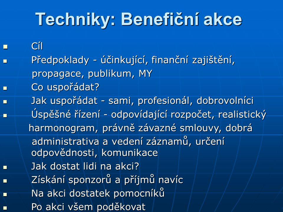 Techniky: Benefiční akce
