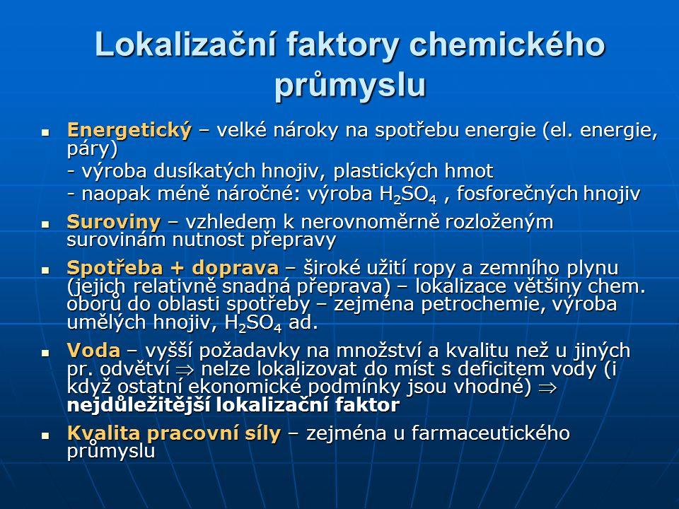 Lokalizační faktory chemického průmyslu