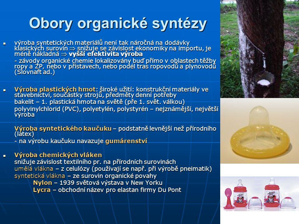Obory organické syntézy