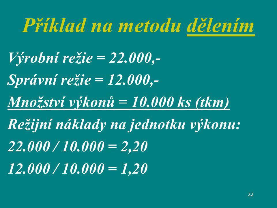 Příklad na metodu dělením