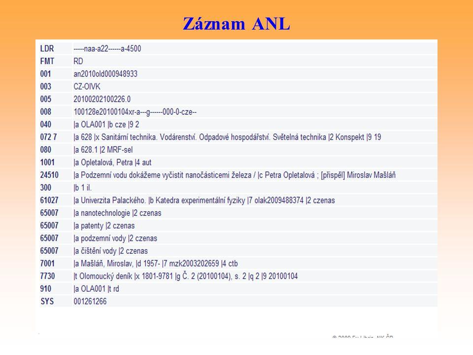 Záznam ANL