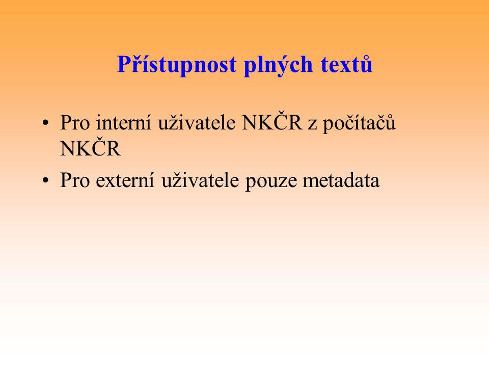 Přístupnost plných textů