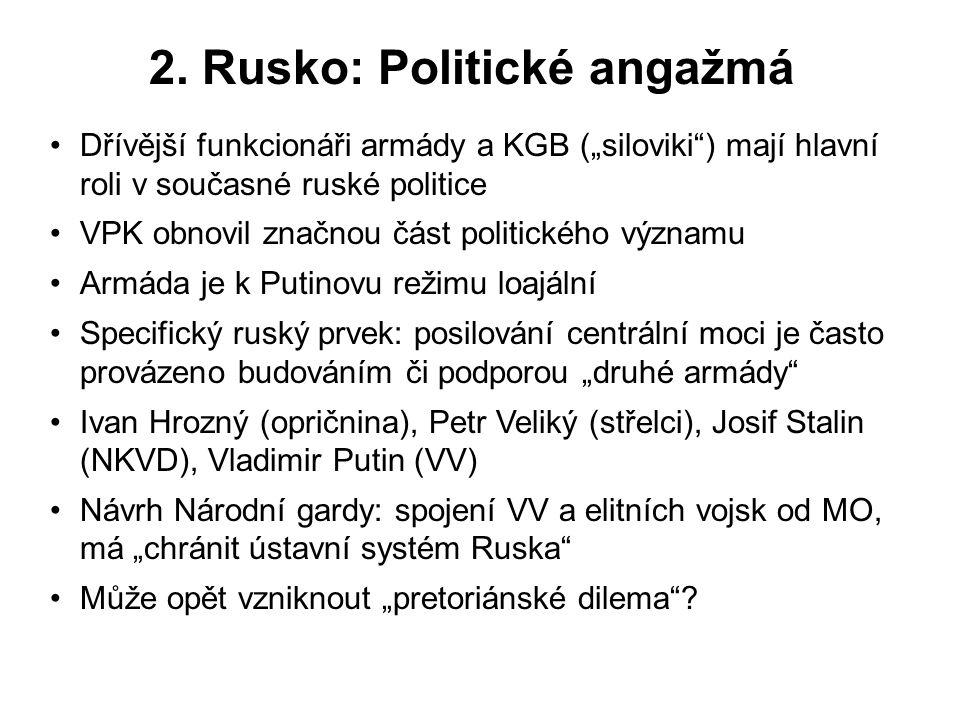 2. Rusko: Politické angažmá