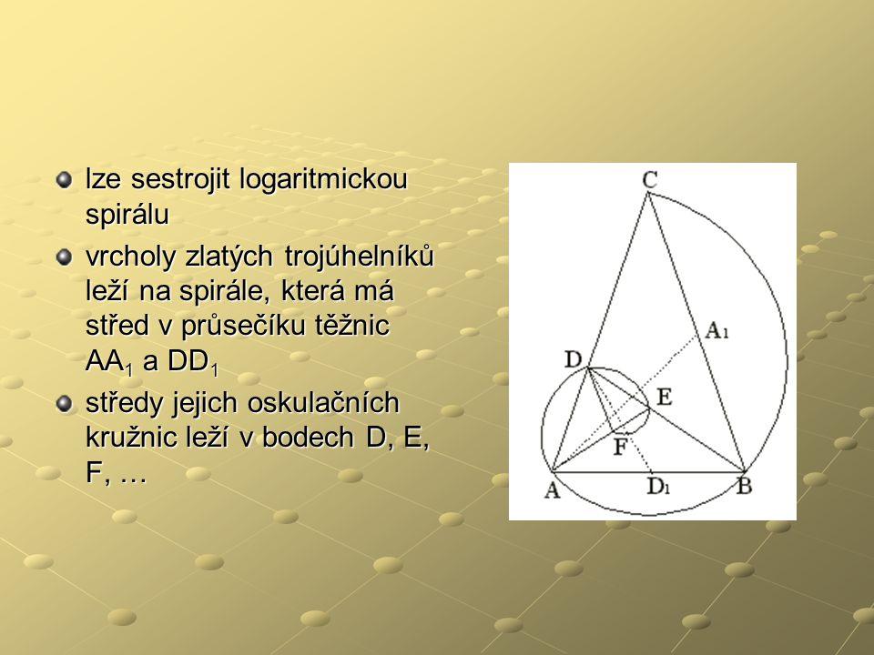 lze sestrojit logaritmickou spirálu