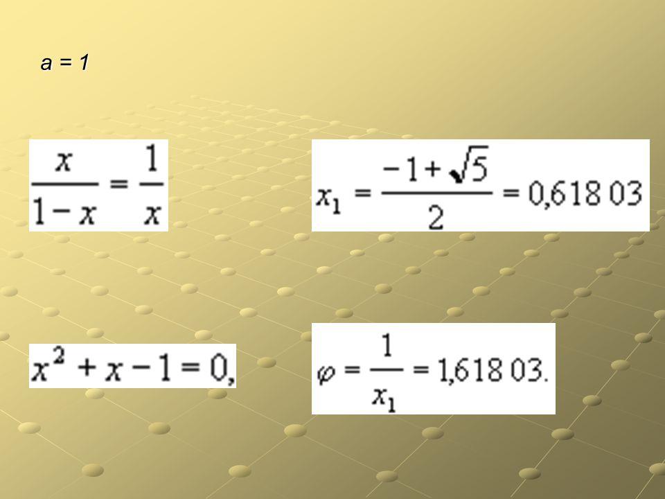 a = 1