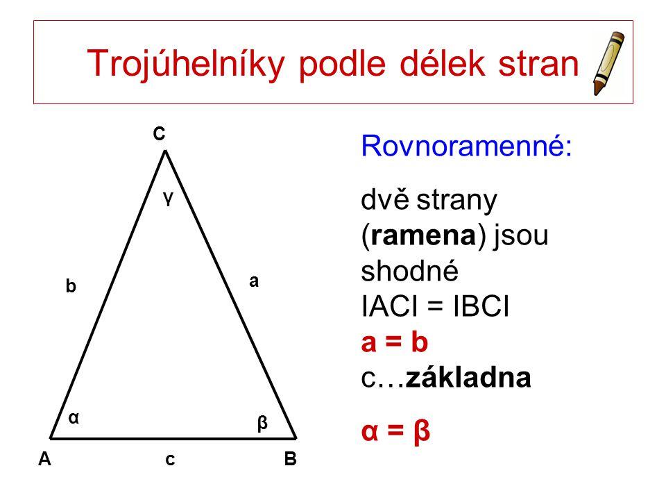 Trojúhelníky podle délek stran
