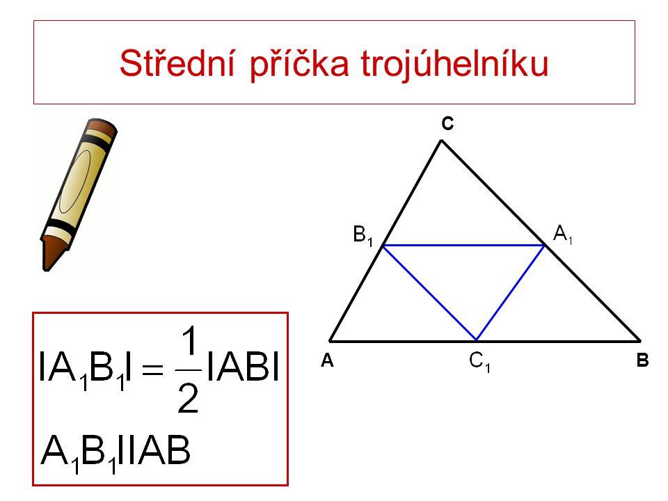 Střední příčka trojúhelníku
