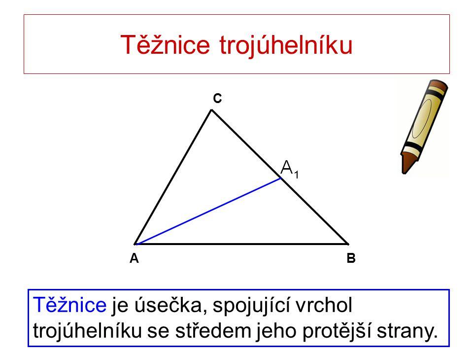 Těžnice trojúhelníku B. A. C.
