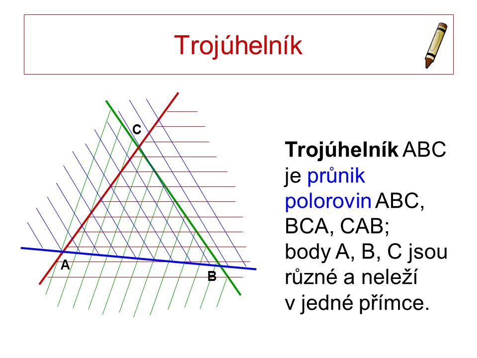 Trojúhelník A. B. C.