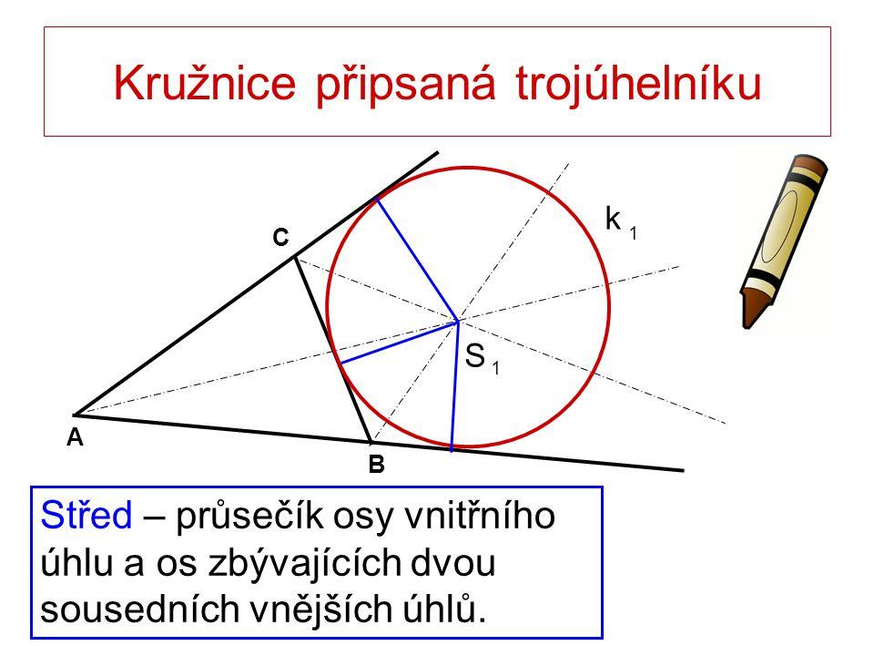 Kružnice připsaná trojúhelníku