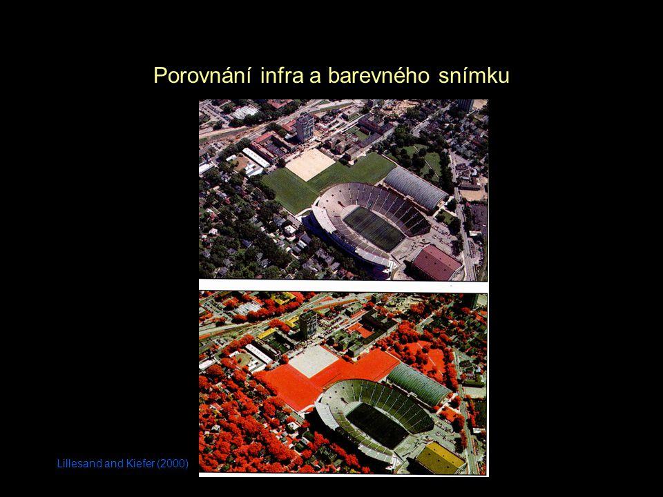 Porovnání infra a barevného snímku
