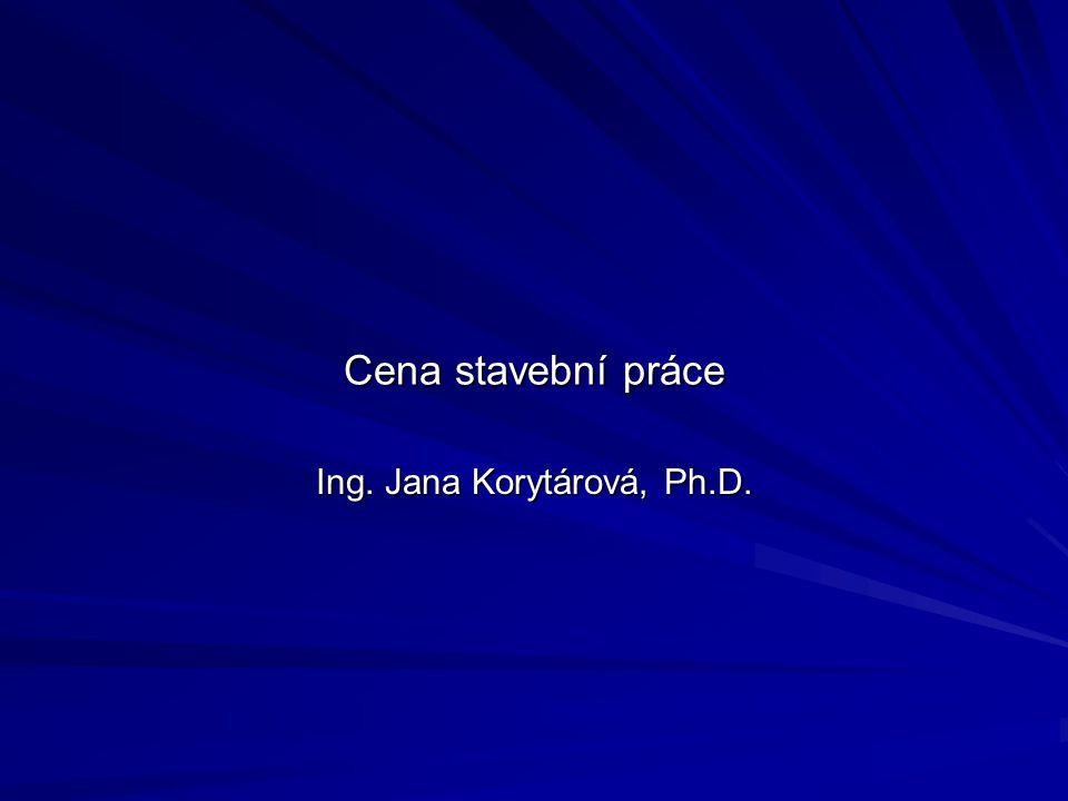 Ing. Jana Korytárová, Ph.D.
