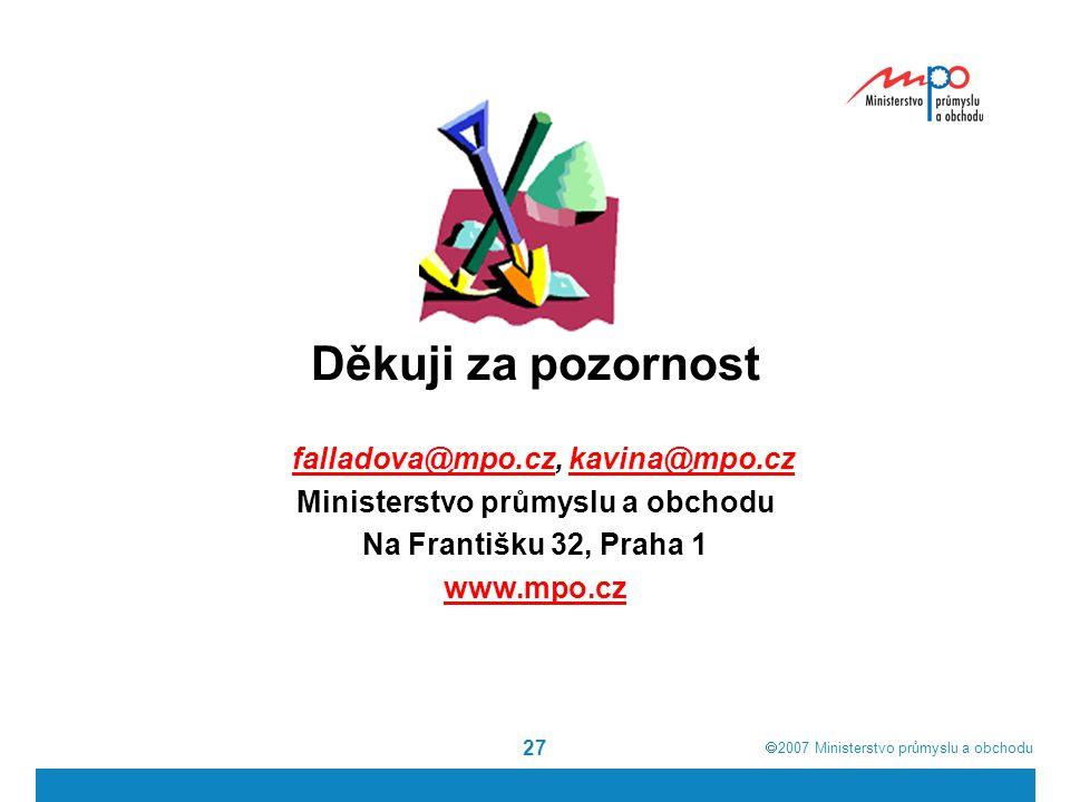 falladova@mpo.cz, kavina@mpo.cz Ministerstvo průmyslu a obchodu