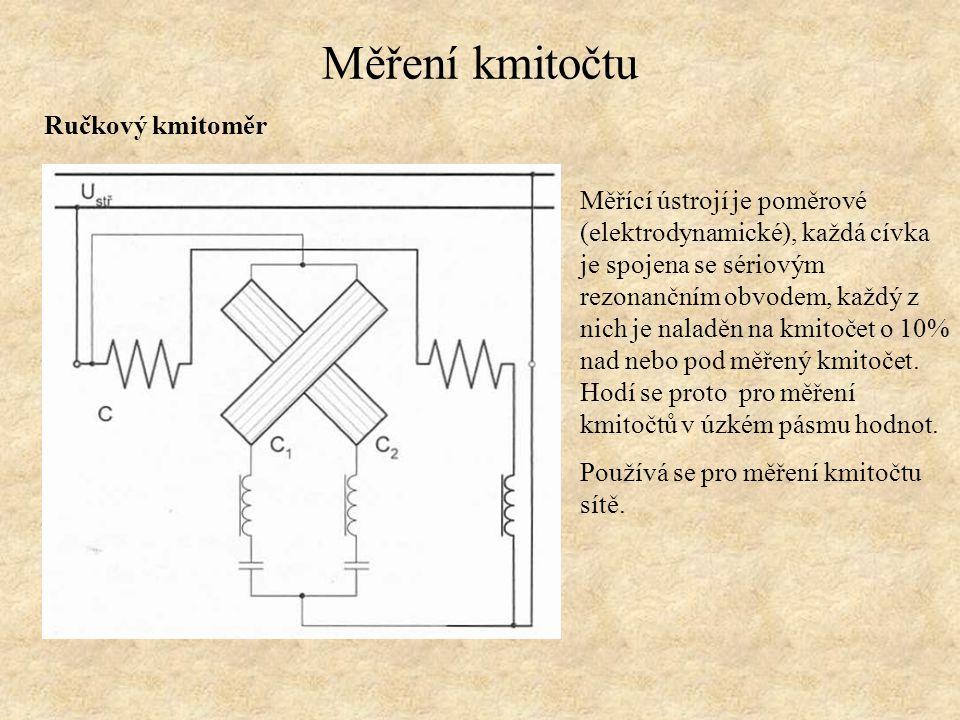 Měření kmitočtu Ručkový kmitoměr
