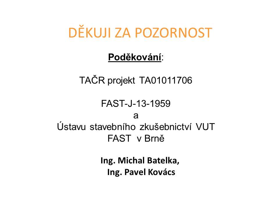 Ústavu stavebního zkušebnictví VUT FAST v Brně