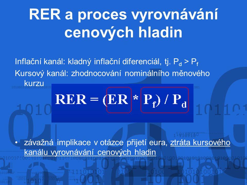 RER a proces vyrovnávání cenových hladin