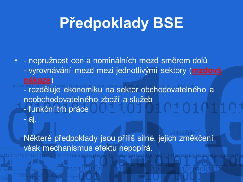 Předpoklady BSE