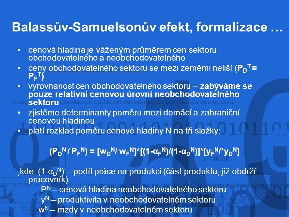 Balassův-Samuelsonův efekt, formalizace …