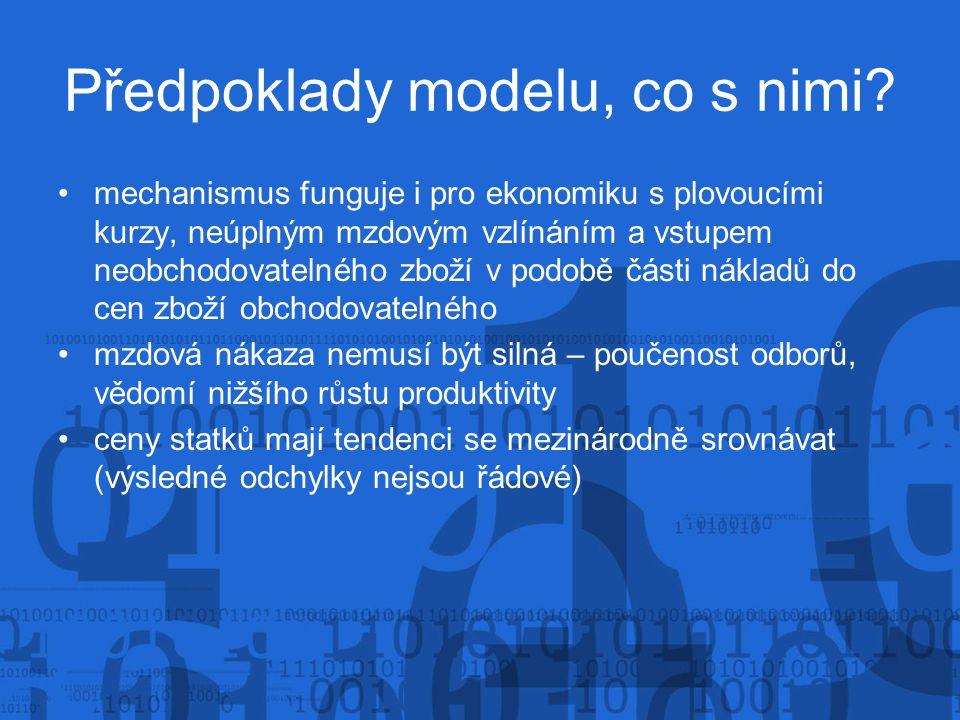 Předpoklady modelu, co s nimi