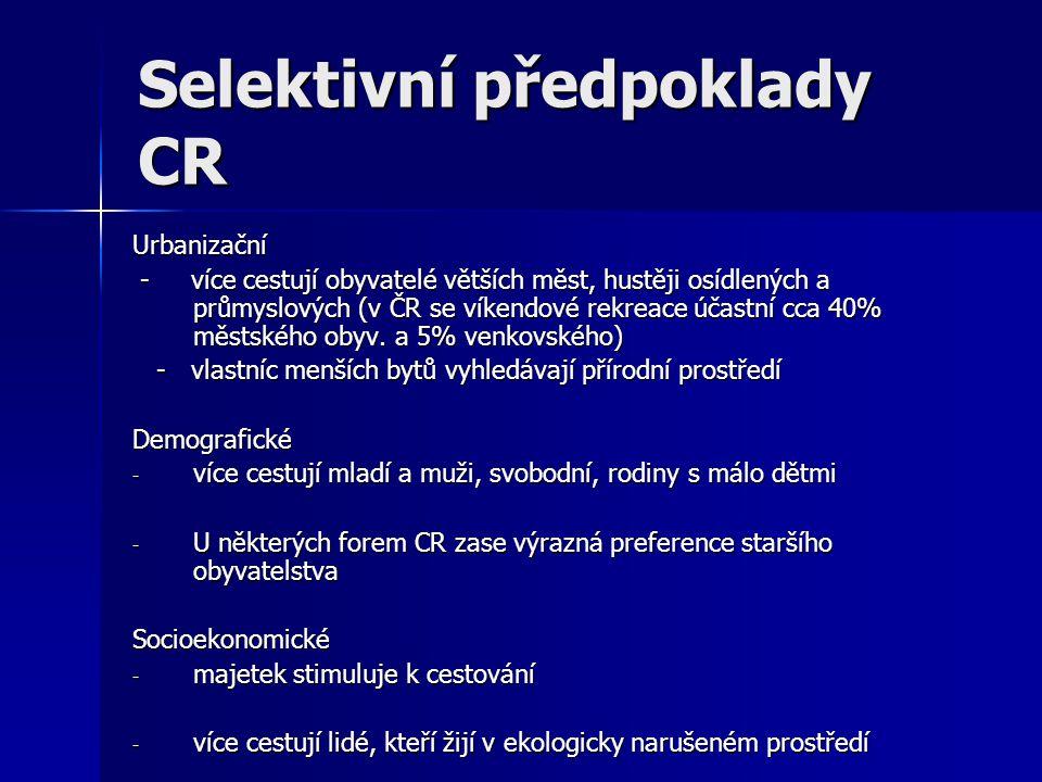 Selektivní předpoklady CR