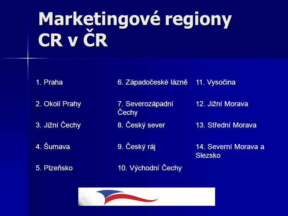 Marketingové regiony CR v ČR