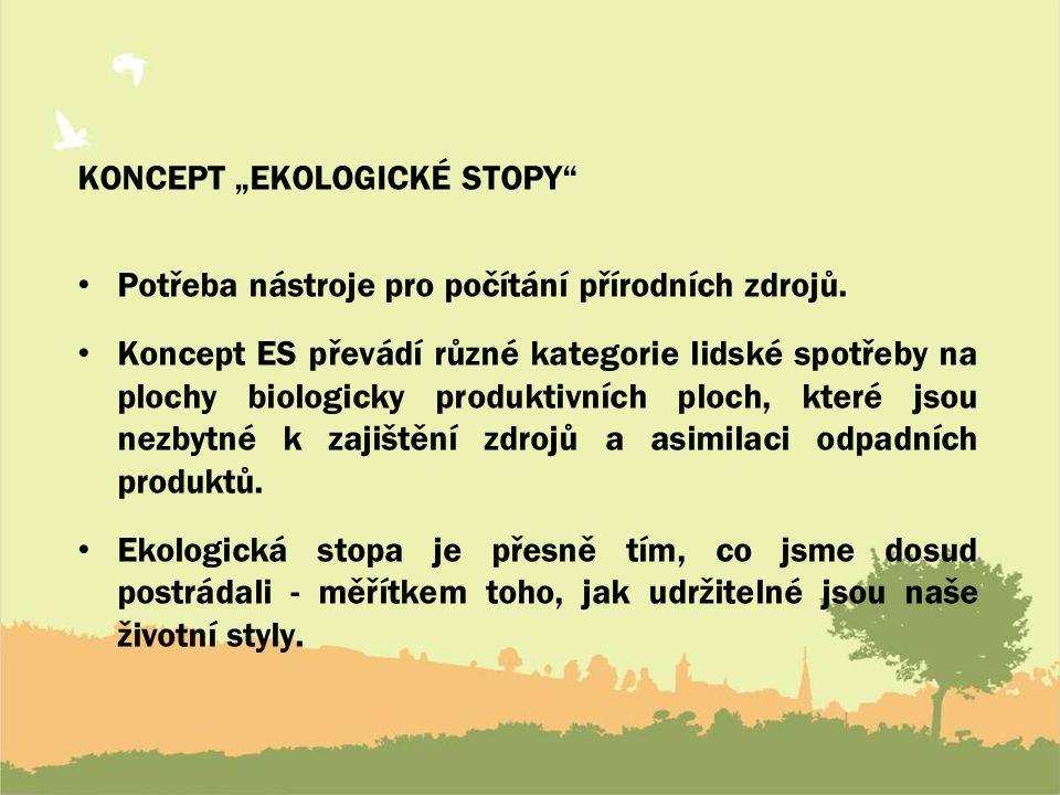 """KONCEPT """"EKOLOGICKÉ STOPY"""