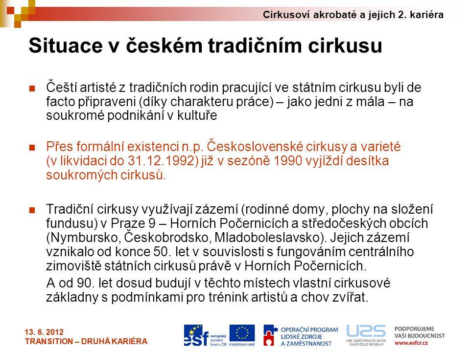 Situace v českém tradičním cirkusu