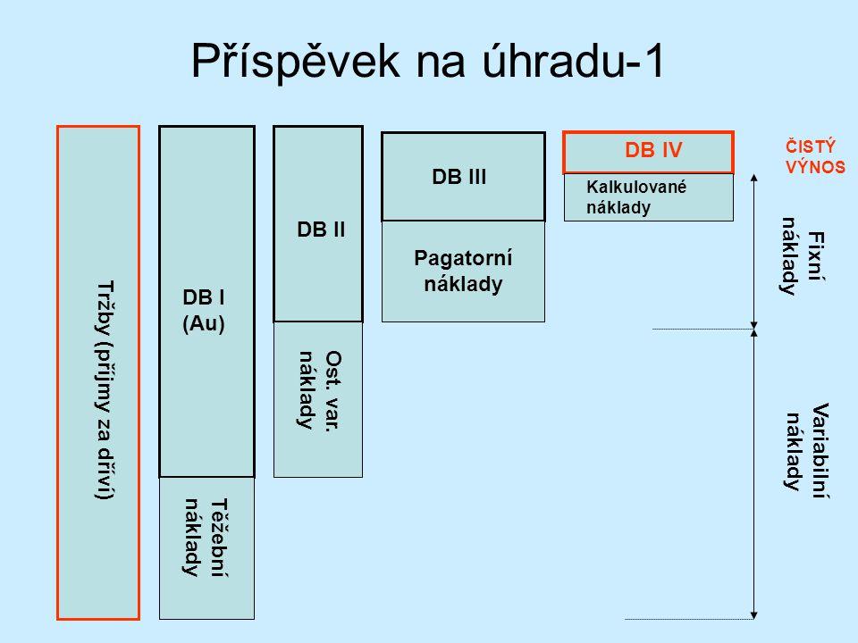 Příspěvek na úhradu-1 DB IV DB III Fixní náklady DB II