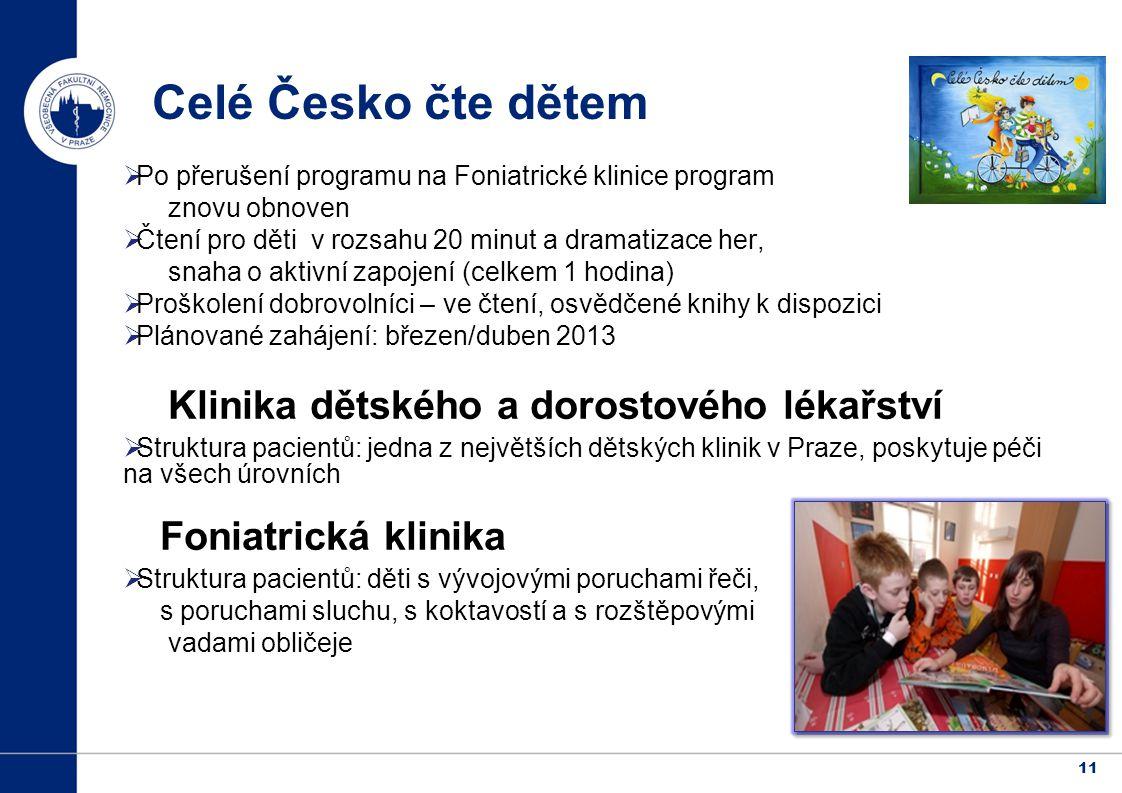Celé Česko čte dětem Klinika dětského a dorostového lékařství