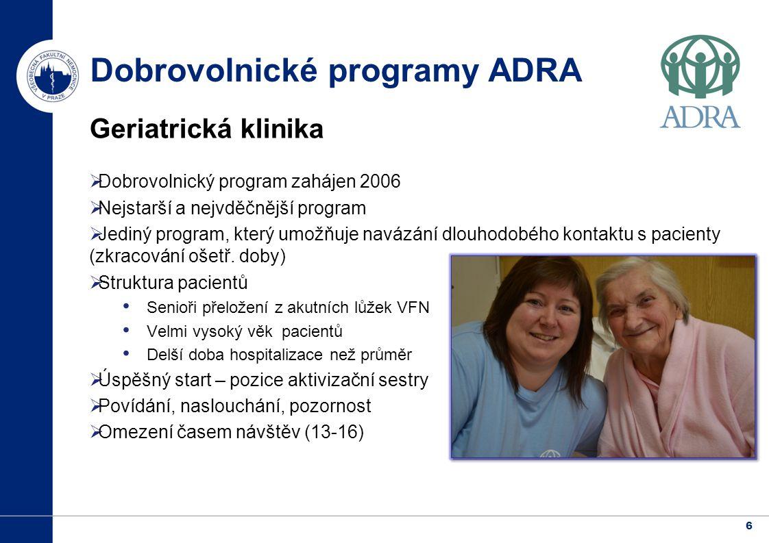 Dobrovolnické programy ADRA