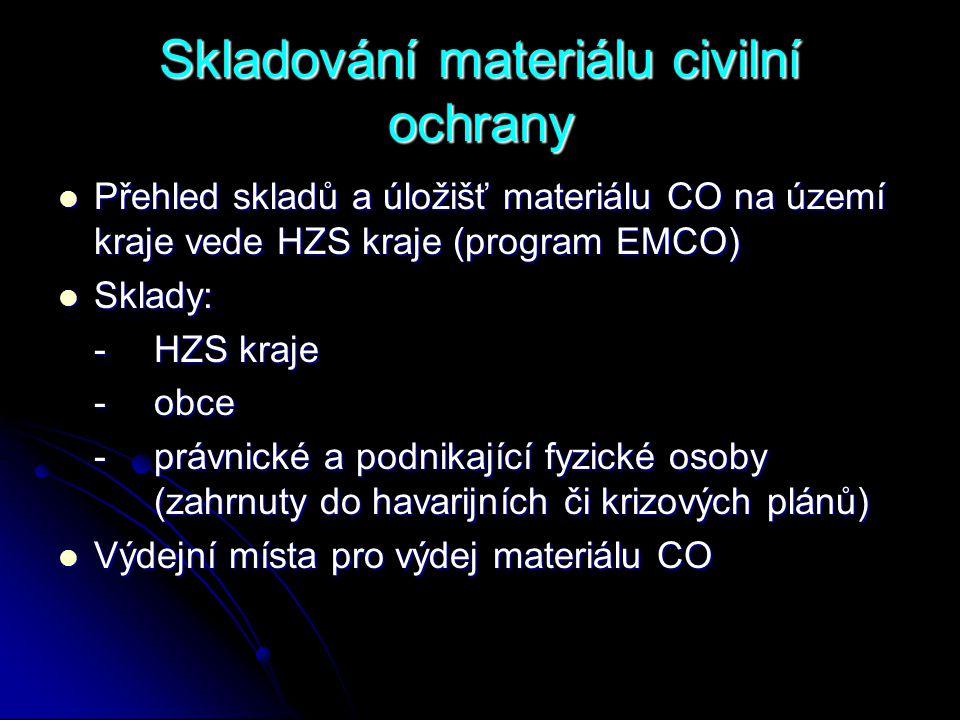 Skladování materiálu civilní ochrany