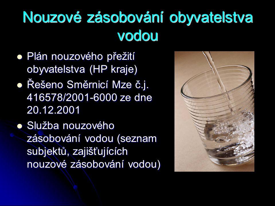 Nouzové zásobování obyvatelstva vodou