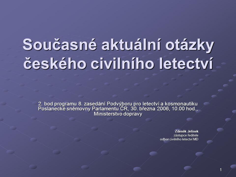 Současné aktuální otázky českého civilního letectví
