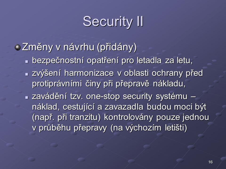 Security II Změny v návrhu (přidány)