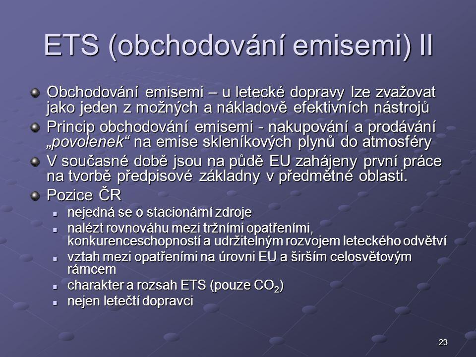 ETS (obchodování emisemi) II