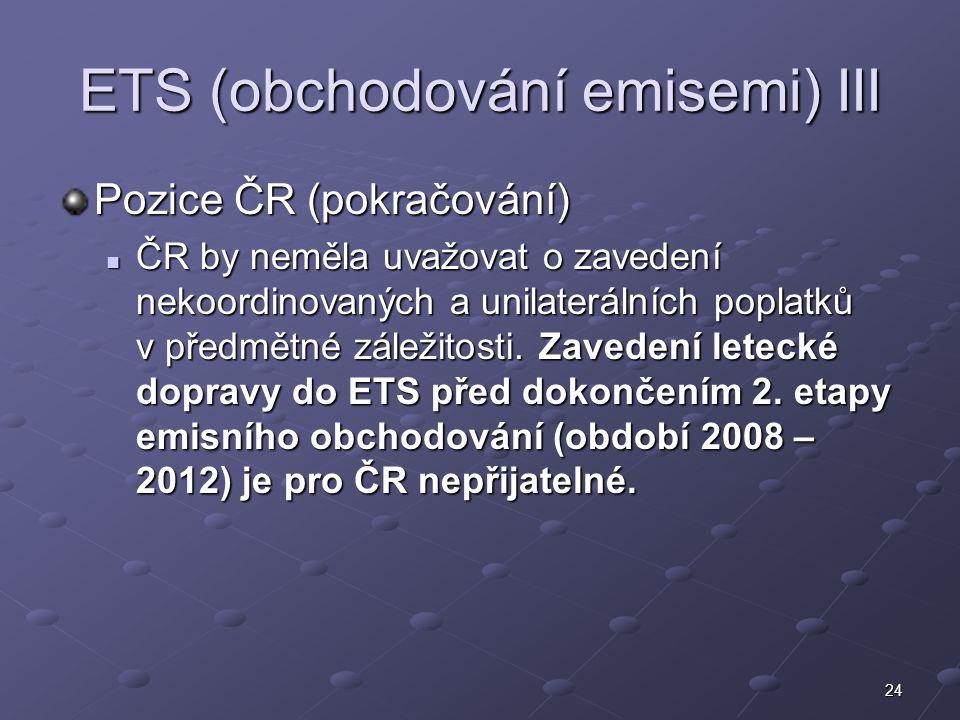ETS (obchodování emisemi) III