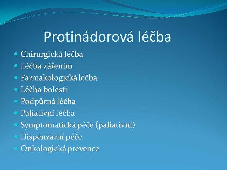 Protinádorová léčba Chirurgická léčba Léčba zářením