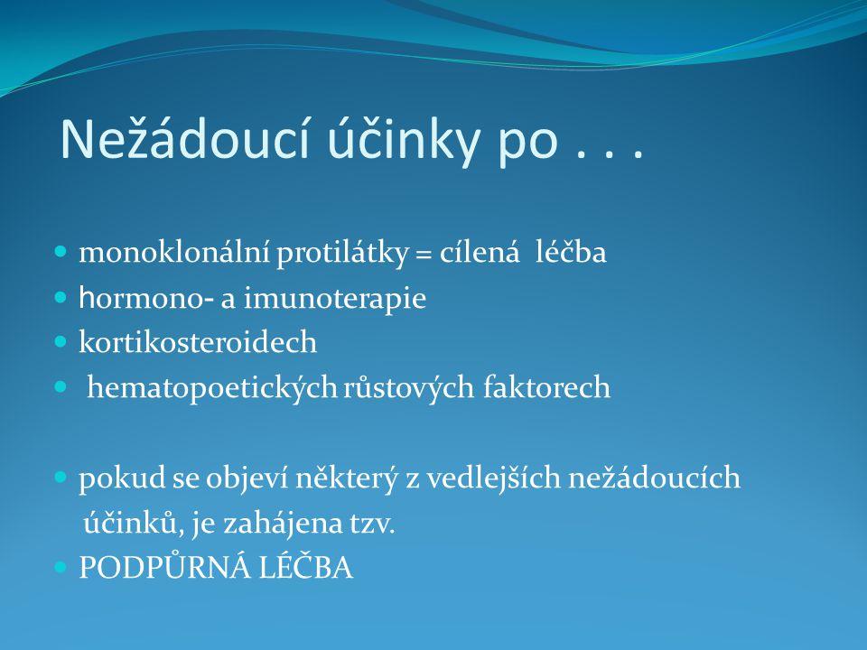 Nežádoucí účinky po . . . monoklonální protilátky = cílená léčba