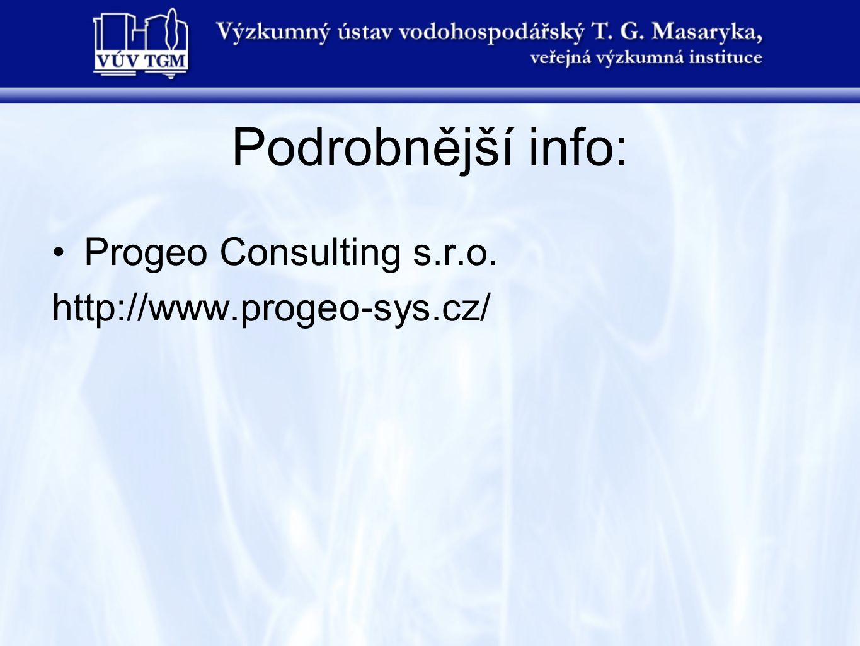 Podrobnější info: Progeo Consulting s.r.o. http://www.progeo-sys.cz/