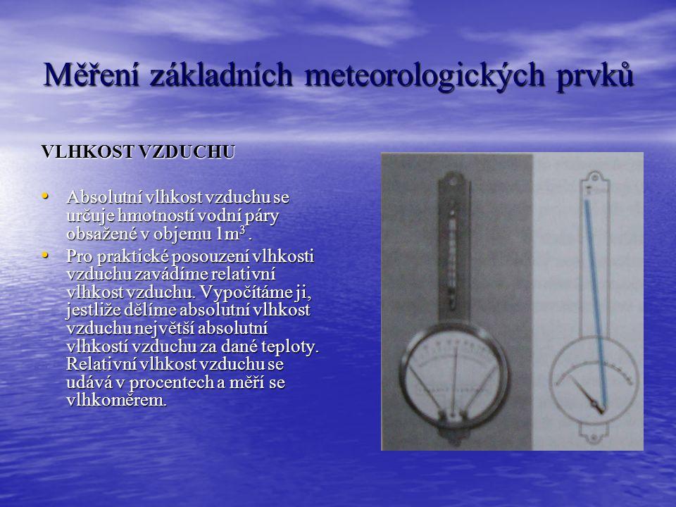 Měření základních meteorologických prvků