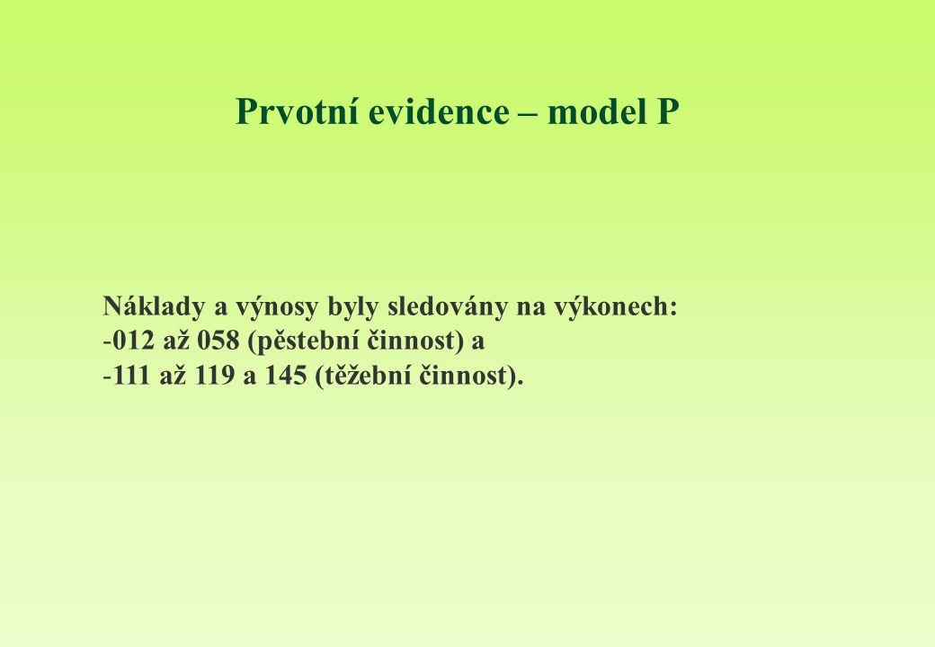 Prvotní evidence – model P