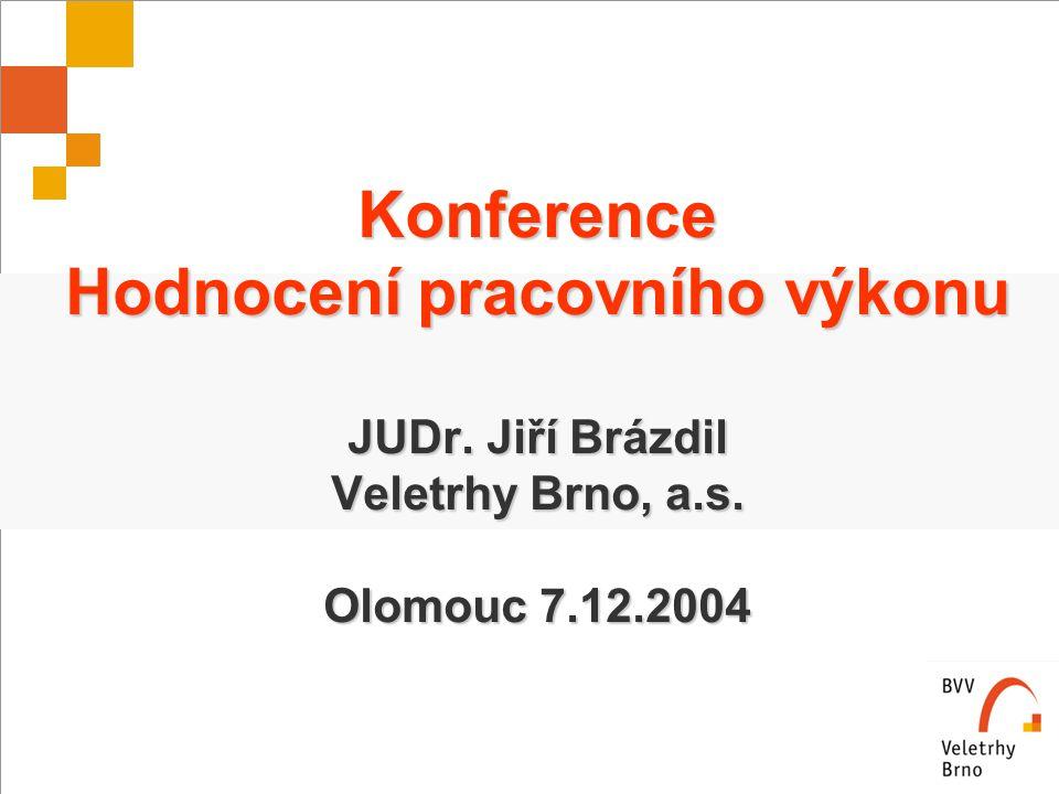 Konference Hodnocení pracovního výkonu JUDr