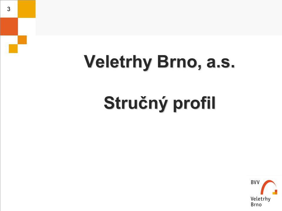 Veletrhy Brno, a.s. Stručný profil