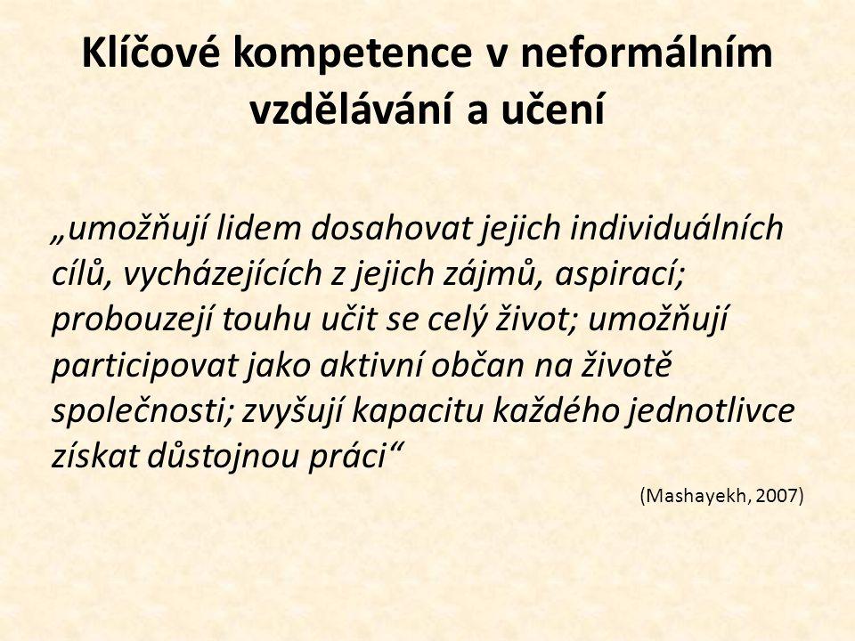Klíčové kompetence v neformálním vzdělávání a učení