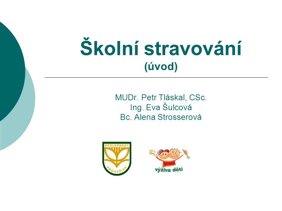Školní stravování (úvod) MUDr. Petr Tláskal, CSc. Ing. Eva Šulcová Bc