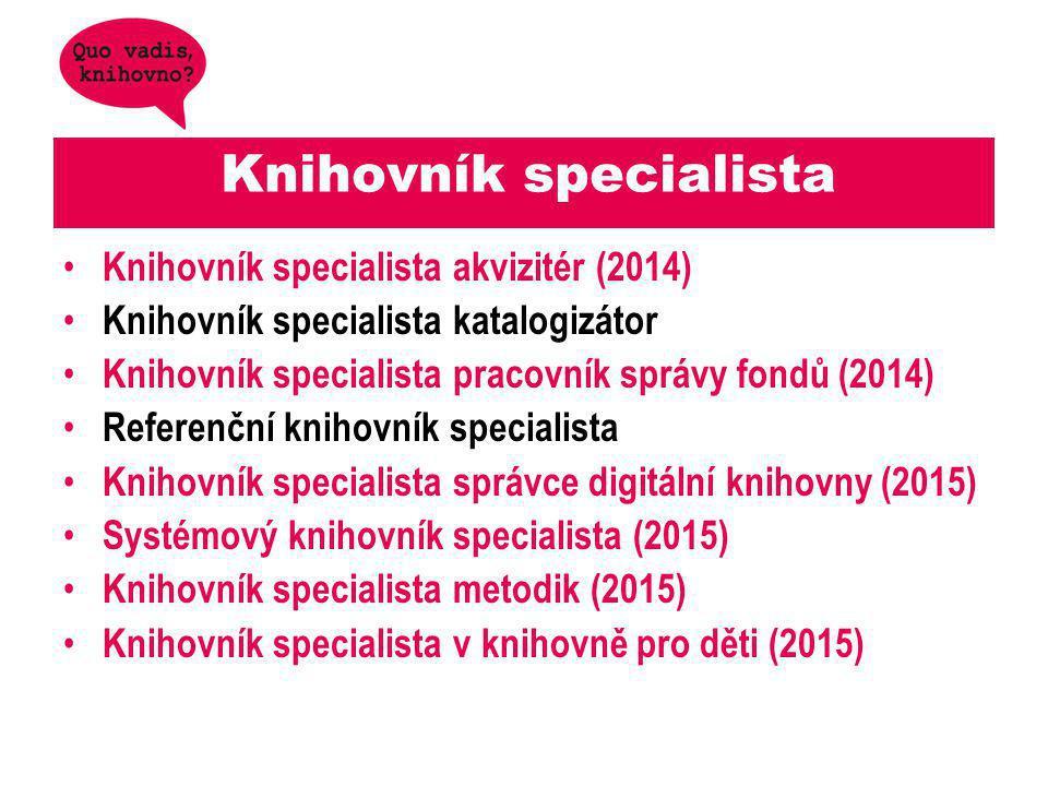 Knihovník specialista